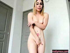 Petite Blonde Teen Knows How To Jerk To Pleasure A Dude