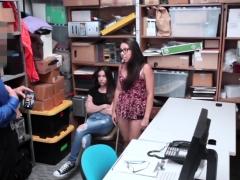 Tight Teen Duo Boned Hard For Shoplifting