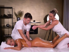 Massage Rooms Oil Soaked Sensual Blonde Czech