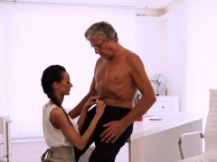 Daddy Throat Fucks Patron' Boss's Daughter And On White
