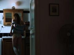 Slim Virgin Teasing Tight Pink Cunt In Bed