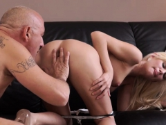 Old Man Eats Girls Ass Horny Ash-blonde Wants To Try