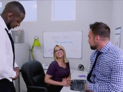 Tag Team Anal With Secretary At The Office
