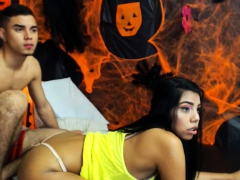 Brunette Teen Strips On Webcam