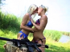 Teen Flashing Naked Girls With Guns