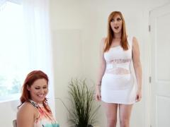 Foxy Redhead Lesbians Have Naughty Threesome