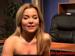 Restrained Sub Babe Dominated By Lezdom