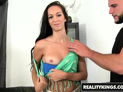 Skinny Slut Monica Miller Tries Porn For The First Time