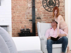 Redhead Chick Plays With A Hard Dong