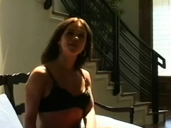 Jaw Dropping Honey Teasing With A Cigarette In Her Throat