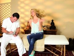Massaged Blonde Spermed