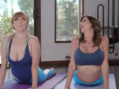 Penny Is Game For Naked Yoga