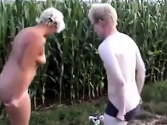 Amateur - Pierced Nipple Mature Young Stud Outdoor Fuck