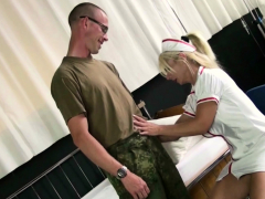 Female Nurse Milf Fuck The Young Boy At Military Checkup