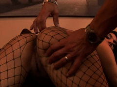 Hottie In Fishnets Loves To Get Fucked