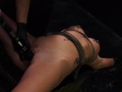 Toilet Slave Worship He Handcuffs Sabrina To The Wheel.