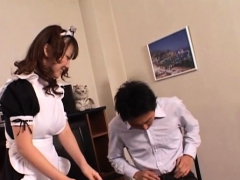 Older Japanese Bitch Gets Down On Some Cock For Nice Award