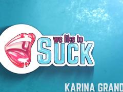 Karina Grand Sucking Cock And Messy Facial