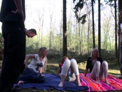 Dirty Tina And Kacy Kisha In German Outdoor Group Sex