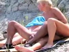 Public Mature Blow Job At A Beach