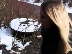 Dnne Blonde Deutsch Gefickt Im Freien