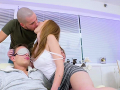 Lucky Linda Sweet Gets To Share Her Man With Another Guy