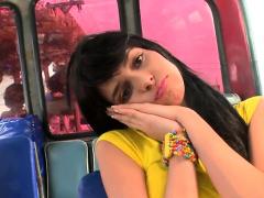 Savory Latin Adorable Girl Gets Supplementary Moist