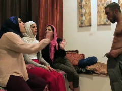 Sin Sage First Time Hot Arab Chicks Try Foursome