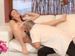 Young Tiny Teen And Old Man Unexpected Experience With An