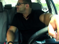 Male Slave Spanking Fed Up With Waiting For A Taxi, Naive