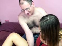 Very Horny Brunette Taking Olders Man Dick Hard