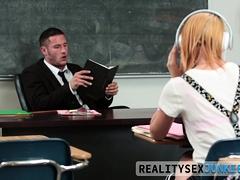 Real Teen Dribbles Teachers Cum
