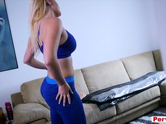 Stepmom Stretching Her Legs And Later Her Pussy Too
