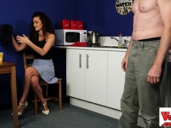 Classy Office Babe Humiliates Guy In Jerk Off
