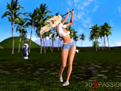 Black Man Fucks Hard A Hot Teen Blonde On The Golf Course