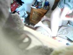 Girl Uses Two Vibrators On Hidden Cam