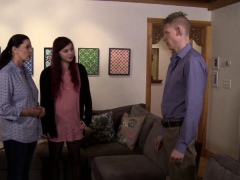 Transgender Chick Joins Couple For Threeway