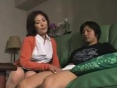 Hot Japanese Mom Caught Not Stepson Masturbates