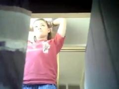 Candid Camera Girl Shaving In Bathroom