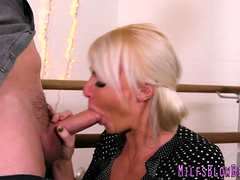 Slutty Blonde Milf Blows