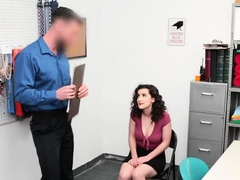Skinny Curly Shoplifter Has To Get Penetrated Deep