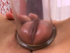 Succulent Teen Brunette Eufrat Is Sucking A Big Sex-toy