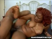 A hot creampie for rena - black creamy pies