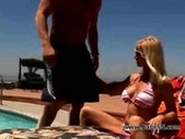 Busty fucked by the poolboy