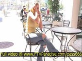 Superb girl candace busty blonde girl flashing tits in publi
