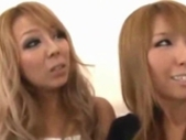2 Sexy Asian Girls Kissing Spitting With 3Rd Girl And With Each Other On The Couch In The Room