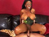 Big black tits and a horny pussy