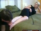 Russian lady foot femdom