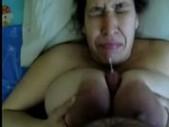 Areola latina sucks dick and cum