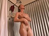 Slim small tits cutie shower masturbation
